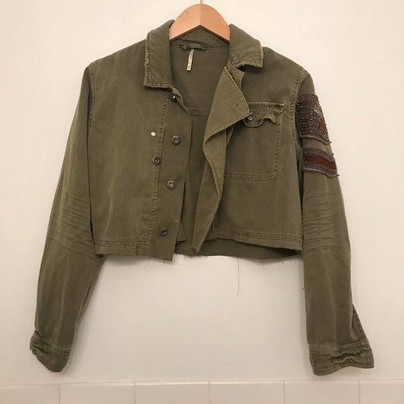 Free People Jackets & Blazers - ✨sale✨Free people military crop jacket